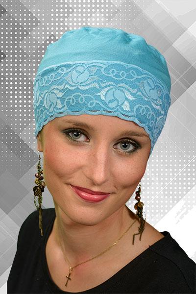 turban śpioszek z koronką