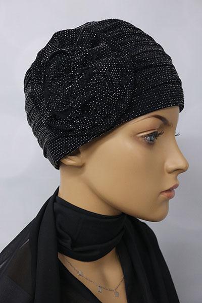turban wieczorowy retro